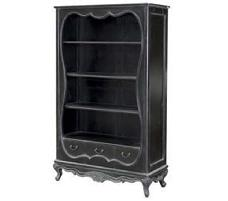 French Book Shelves Black Distressed