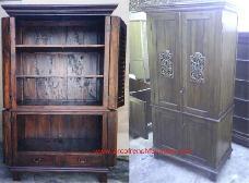 Split Carving TV Cabinet
