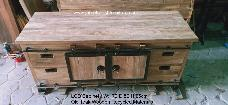 Rustic LCD Cabinet with 4cm Thick Tops
