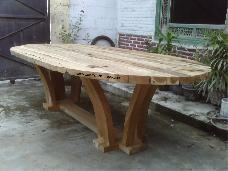 Lucky Oval Dining Table with 5cm Thick Top